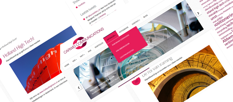Nieuwe website voor Carwei Communications