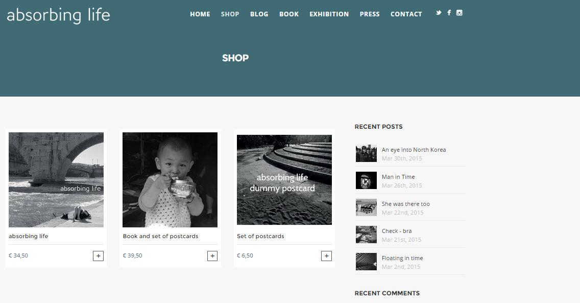 Website ontwikkeld  voor absorbing life